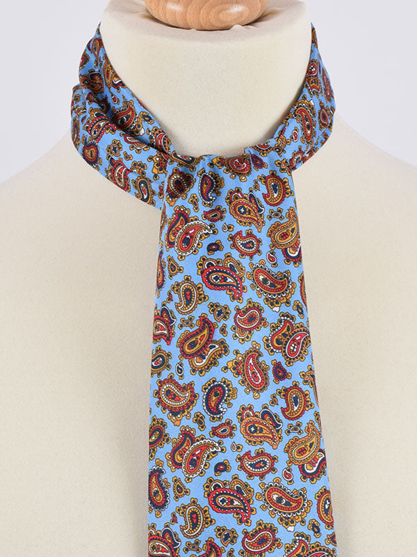 Soho Scarves Blue & Brown Paisley Scarf