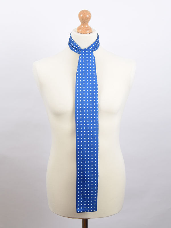 Soho Scarves Blue & White Polka Dot Scarf