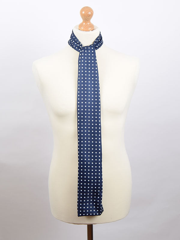Soho Scarves Navy & White Polka Dot Scarf