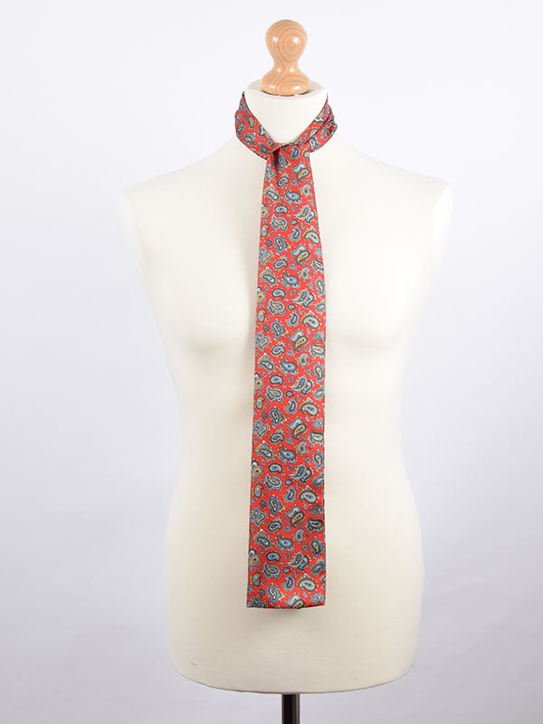 Soho Scarves Red Paisley Scarf