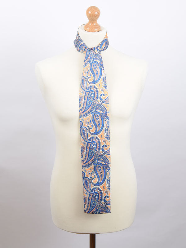 Soho Scarves Yellow & Blue Paisley Scarf