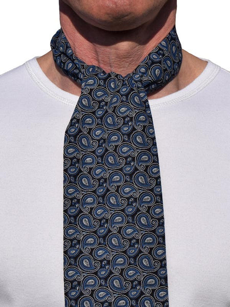 Supernova Black & Blue Paisley Scarf