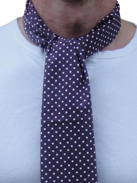 Supernova Deep Purple Polka Dot Scarf
