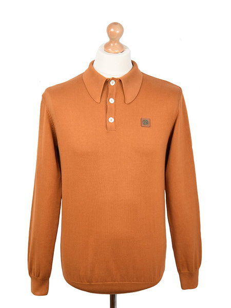 Trojan Records Golden Tan Spear Point Collar Polo Shirt