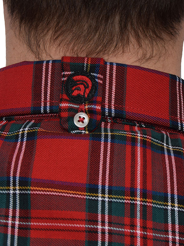 Trojan Records Red Tartan Button Down Shirt