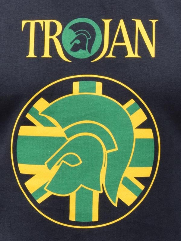 Trojan Records Black Jamaica Helmet Flag T Shirt