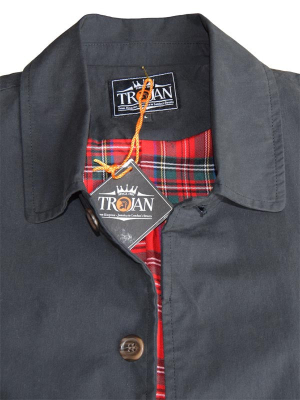 Trojan Records Black Trench Coat