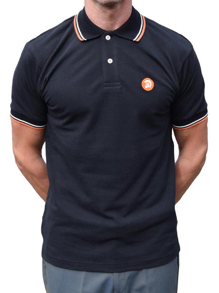 Trojan Records Black Tipped Polo Shirt