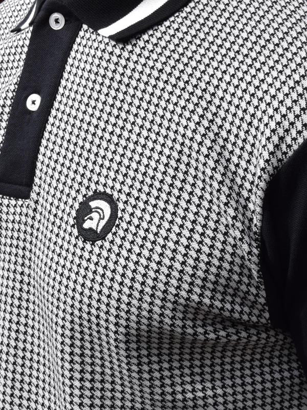 Trojan Records Black Houndstooth Polo Shirt