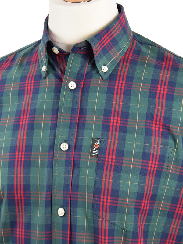 Trojan Records Forest Green Tartan Shirt