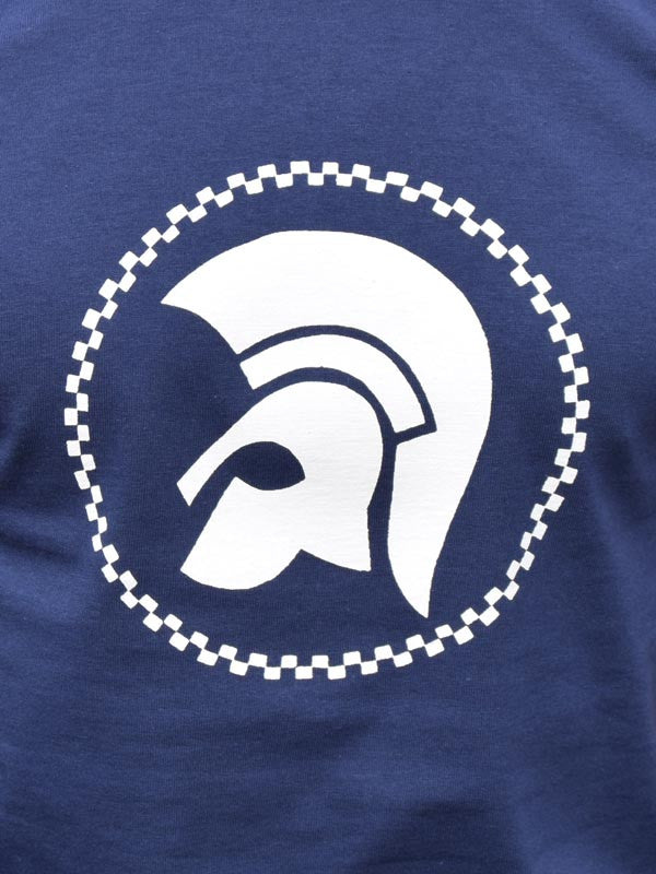 Navy Trojan Head T Shirt