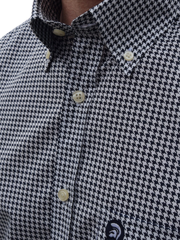 Trojan Records Navy Houndstooth Shirt