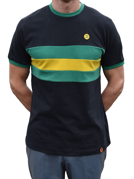 Trojan Records Black Jamaica Front Stripe T Shirt