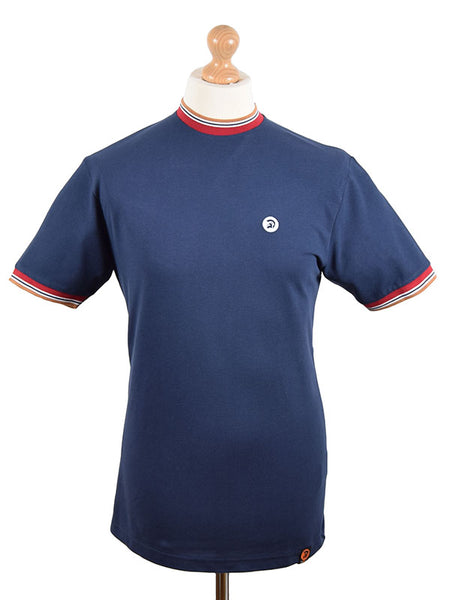 fcb37129bcb Trojan Records Navy Tipped Top