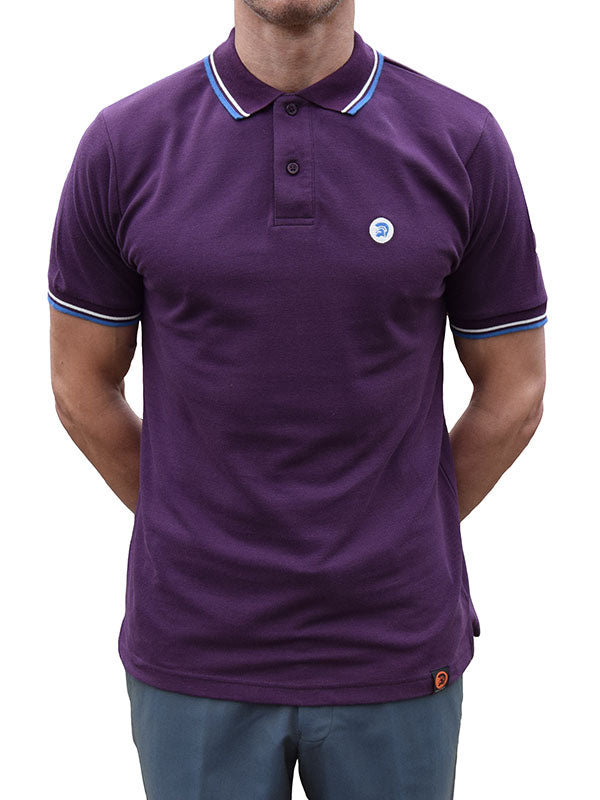 Trojan Records Plum Tipped Polo Shirt