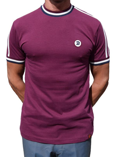 Trojan Records Maroon Twin Stripe Top