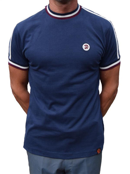 Trojan Records Navy Twin Stripe Top