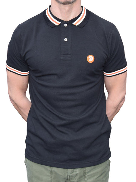 Trojan Records Black Stripe Trim Polo Shirt