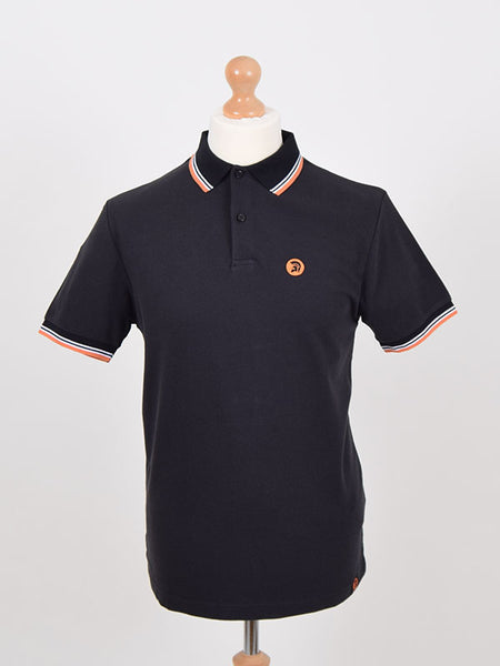 Trojan Records Black Tipped Signature Polo Shirt