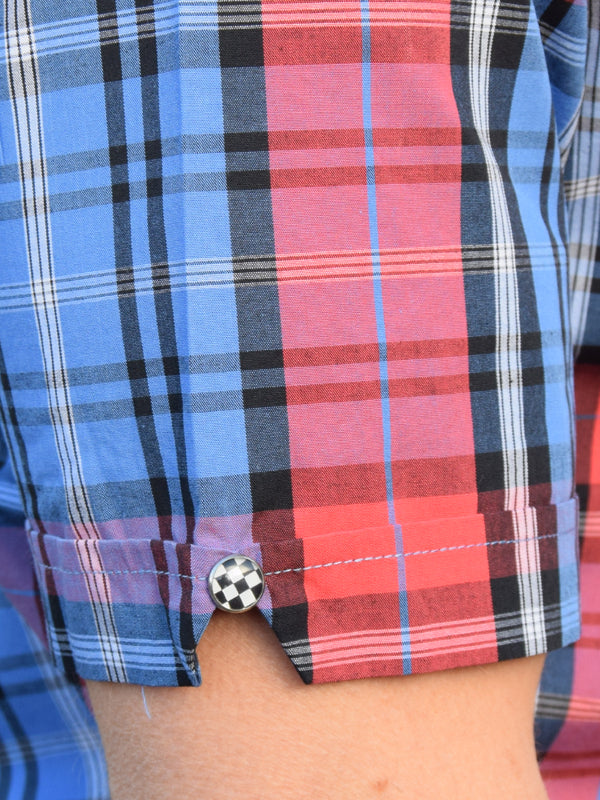 Warrior Blue & Red Check Shirt