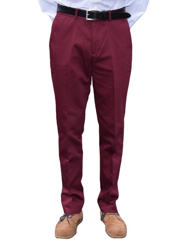 Warrior Burgundy Sta Press Trousers