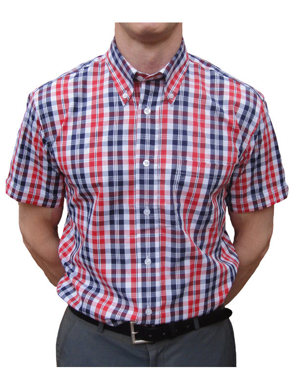 Warrior Red & Navy Check Shirt