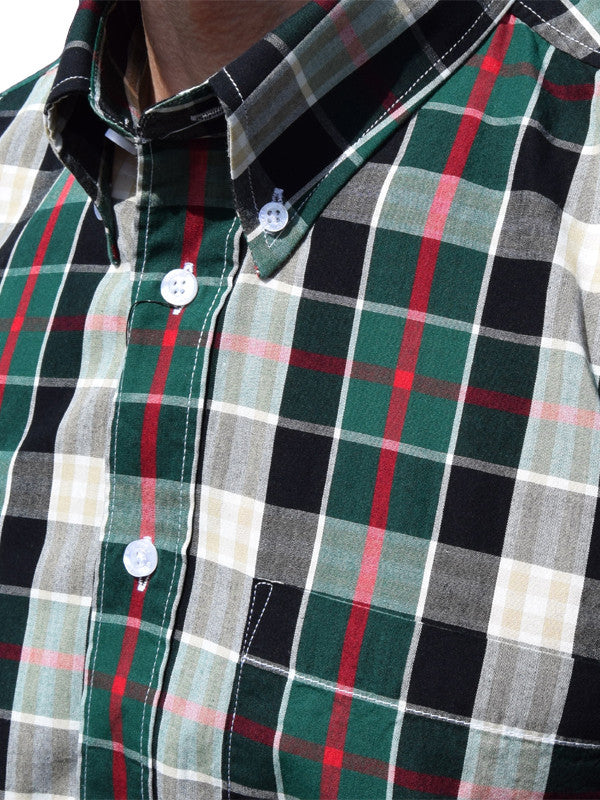 Warrior Green Black & Red Check Shirt