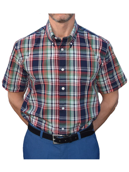 Warrior Navy & Green Check Shirt