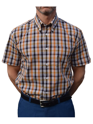 Warrior Orange & Black Check Shirt