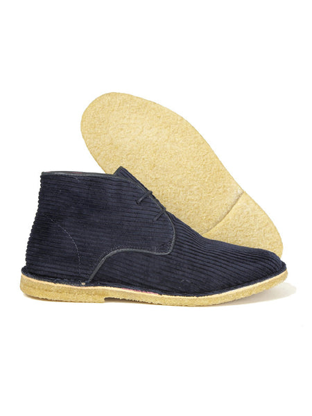 Delicious Junction Navy Cord Desert Boots