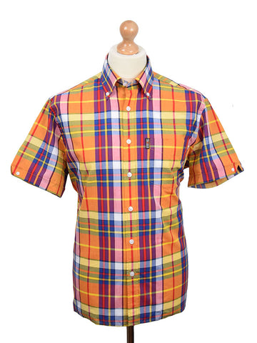 Trojan Records Gold Madras Shirt With Handkerchief