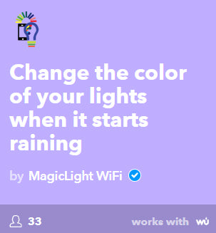change color light when starts raining