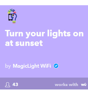 turn on lights at sunset