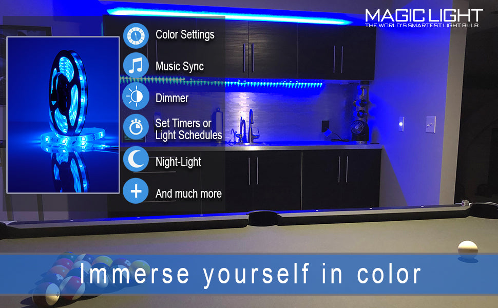Bluetooth LED color changing light strip
