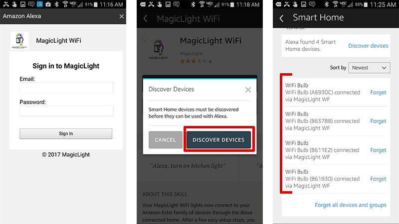 How to use Alexa with your smart bulbs – MagicLight