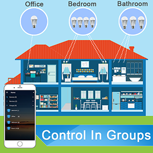 Control smart bulbs in groups