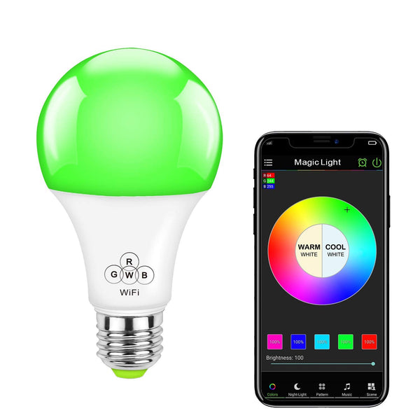 WiFi 50 Watt Smart Light Bulb (Multicolor)