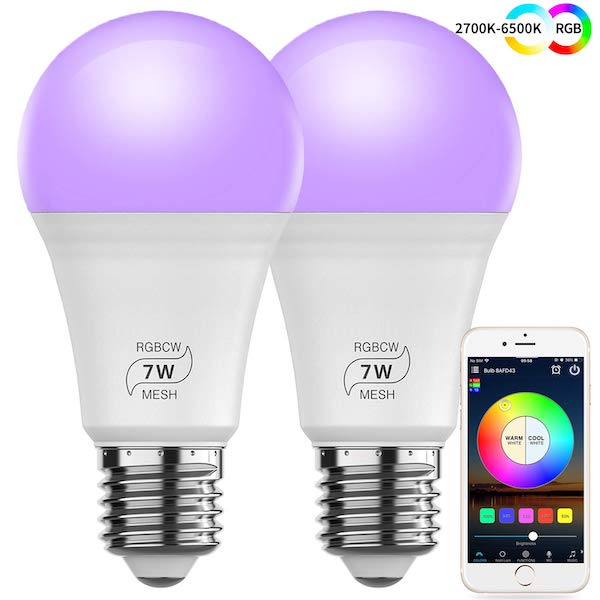MagicConnect Bluetooth with Mesh Technology 60W Smart Bulb 2-Pack