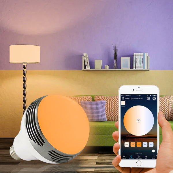 bluetooth app controlled speaker light