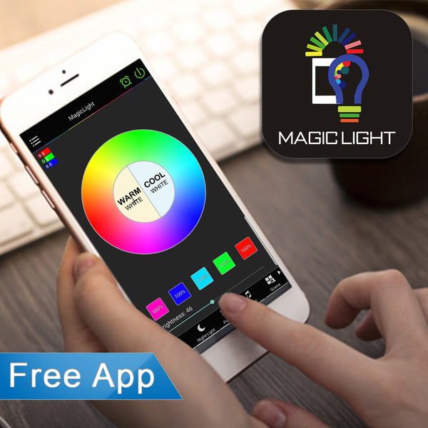 Bluetooth 60 Watt Smart Light Bulb (Multicolor)