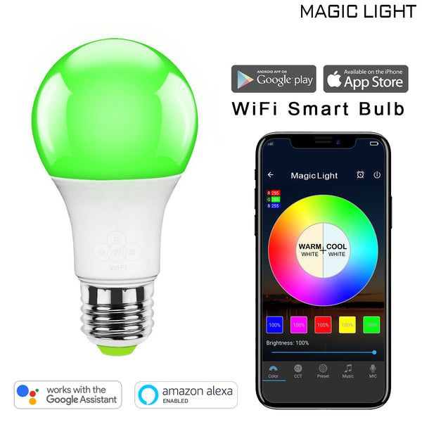 WiFi 40 Watt Smart Light Bulb (Multicolor)