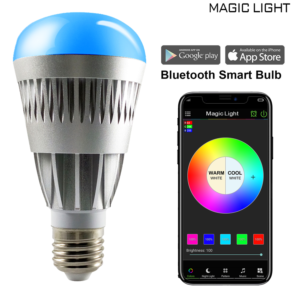 Bluetooth 80 Watt Pro Smart Light Bulb (Multicolor)