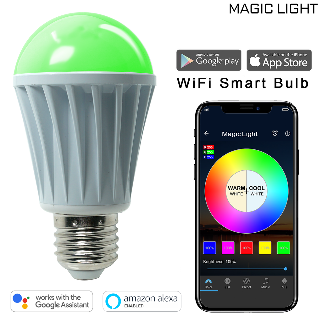 a4662b063649 WiFi 60 Watt Smart Light Bulb (Multicolor)