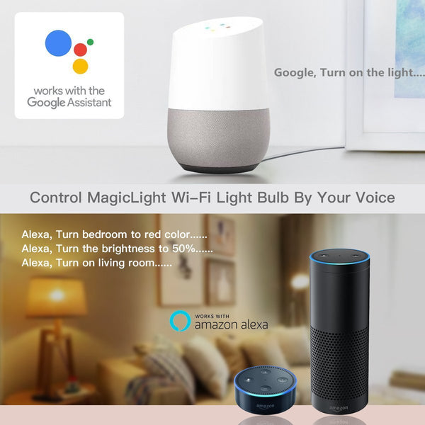 google home amazon alexa light