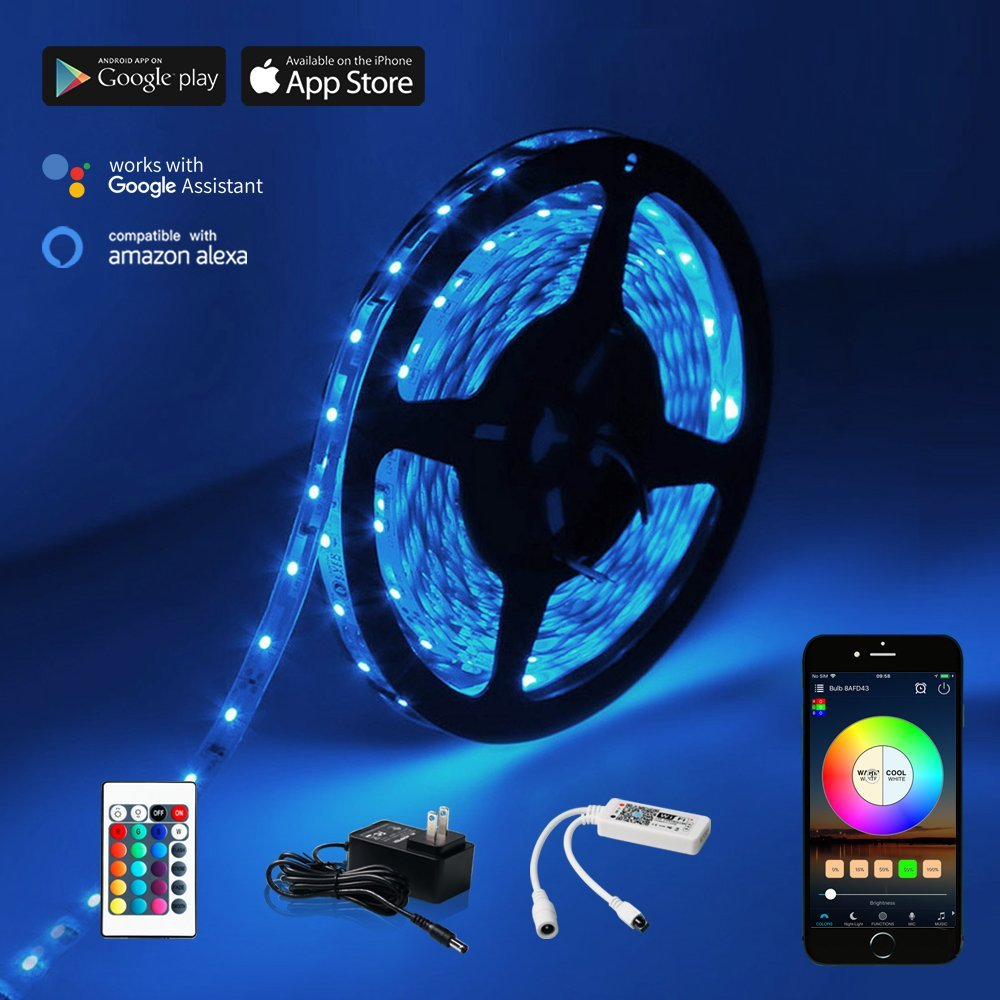 WiFi LED Strip Light w/remote