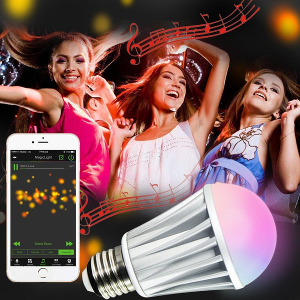 bluetooth light bulb party light