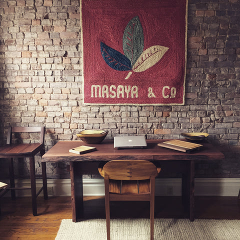 Masaya and Co. hardwood office furniture