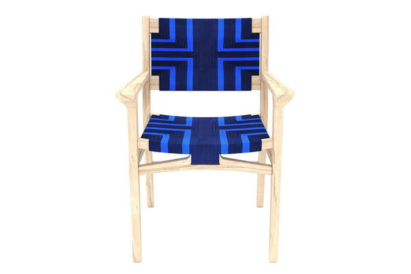 Chontales Arm Chair, Midnight Blue Pattern