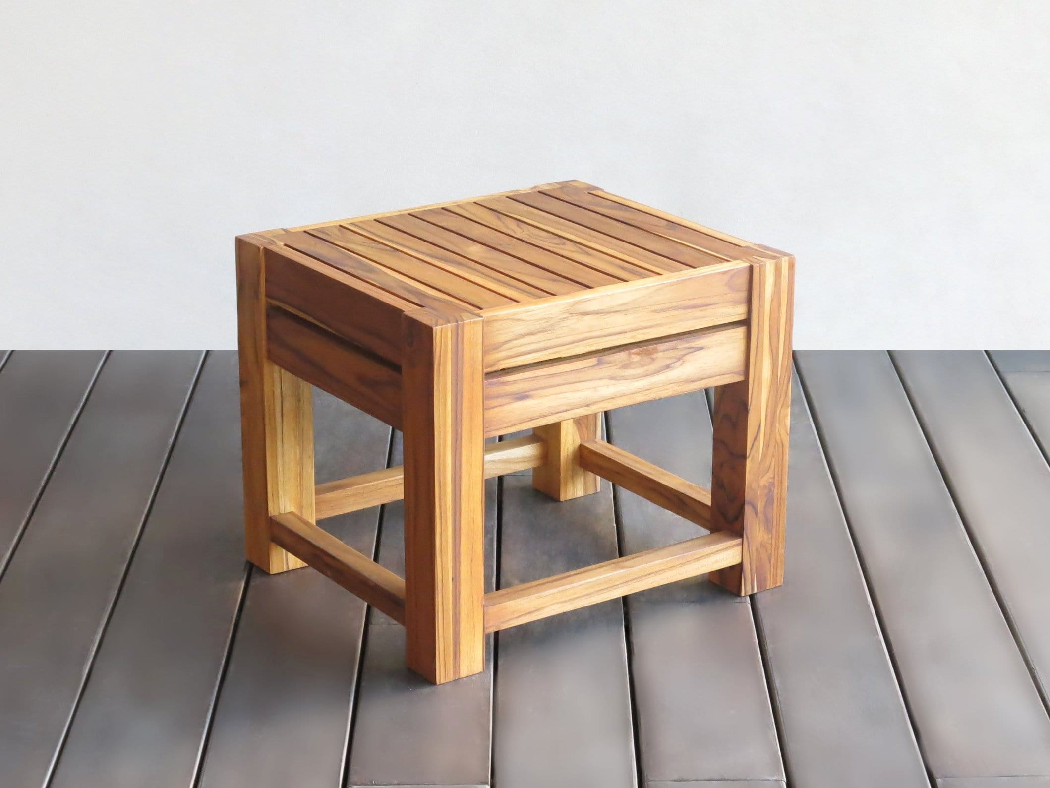 Peachy Slatted Teak Shower Stool Square Style Squirreltailoven Fun Painted Chair Ideas Images Squirreltailovenorg