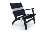 Burnt Teak / Navy White Stripe Manila